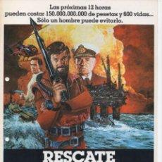 Cine: RESCATE EN EL MAR DEL NORTE. Lote 189465488