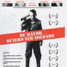 Cine: DE MAYOR QUIERO SER SOLDADO. Lote 189727478