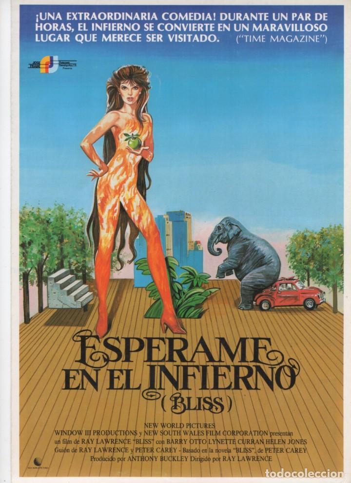 ESPÉRAME EN EL INFIERNO (Cine - Guías Publicitarias de Películas )