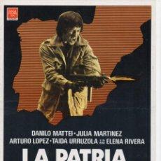 Cine: LA PATRIA DEL RATA. Lote 189807232