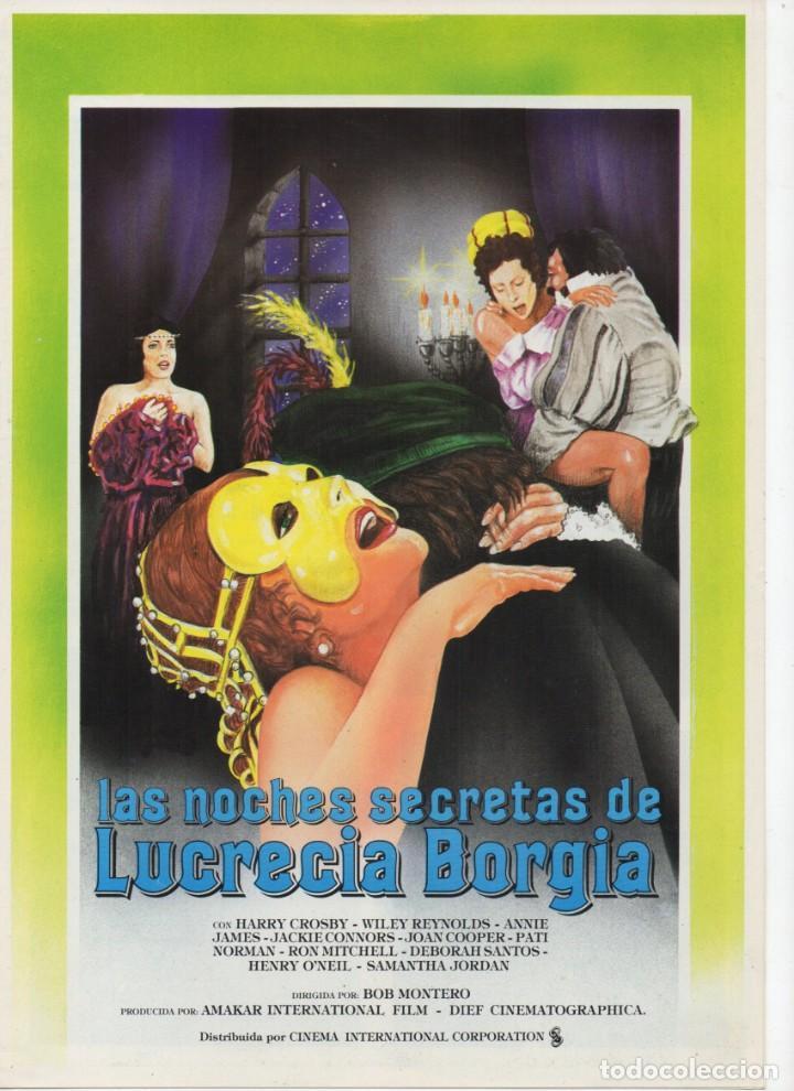 LAS NOCHES SECRETAS DE LUCRECIA BORGIA (Cine - Guías Publicitarias de Películas )