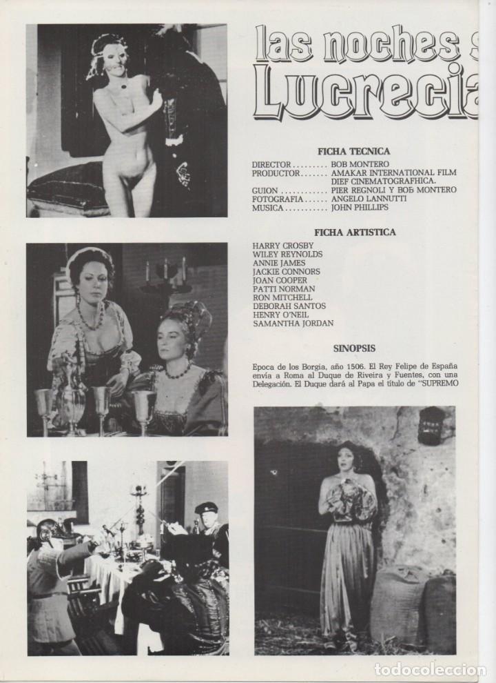 Cine: LAS NOCHES SECRETAS DE LUCRECIA BORGIA - Foto 2 - 189825035