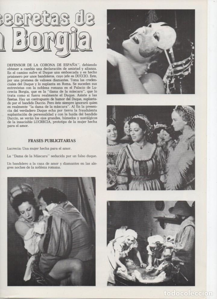 Cine: LAS NOCHES SECRETAS DE LUCRECIA BORGIA - Foto 3 - 189825035