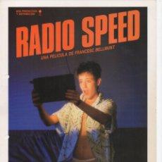 Cine: RADIO SPEED. Lote 189916575