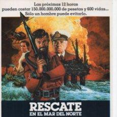 Cine: RESCATE EN EL MAR DEL NORTE. Lote 189925167
