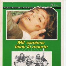 Cine: MIL CAMINOS TIENE LA MUERTE. Lote 189929745