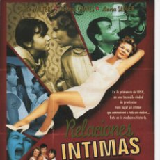 Cine: RELACIONES INTIMAS. Lote 190049578