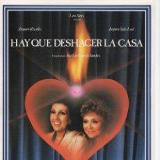 Cine: HAY QUE DESHACER LA CASA. Lote 190049690