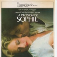 Cine: LA DECISIÓN DE SOPHIA. Lote 190051623