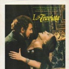 Cine: LA TRAVIATA. Lote 190054598