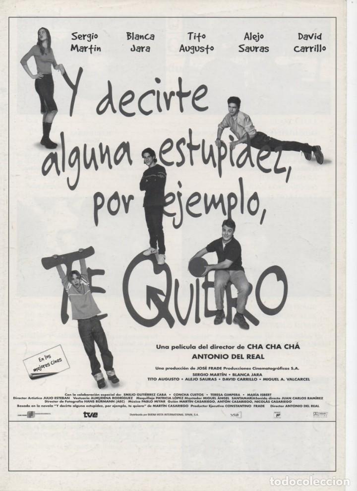 Cine: Y DECIRTE ALGUNA ESTUPIDEZ, POR EJEMPLO, TE QUIERO - Foto 4 - 190066846