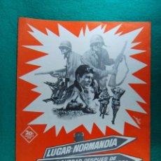 Cine: AL DIA SIGUIENTE...LUGAR:NORMANDIA-FECHA:24 HORAS DESPUES DE EL DIA MAS LARGO-DESESPERADA-2 HOJ-1965. Lote 190112540