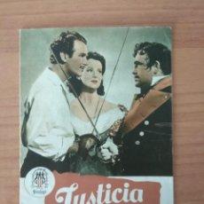 Cine: N--GUIA DE LA PELICULA -- JUSTICIA CORSA. Lote 190232865
