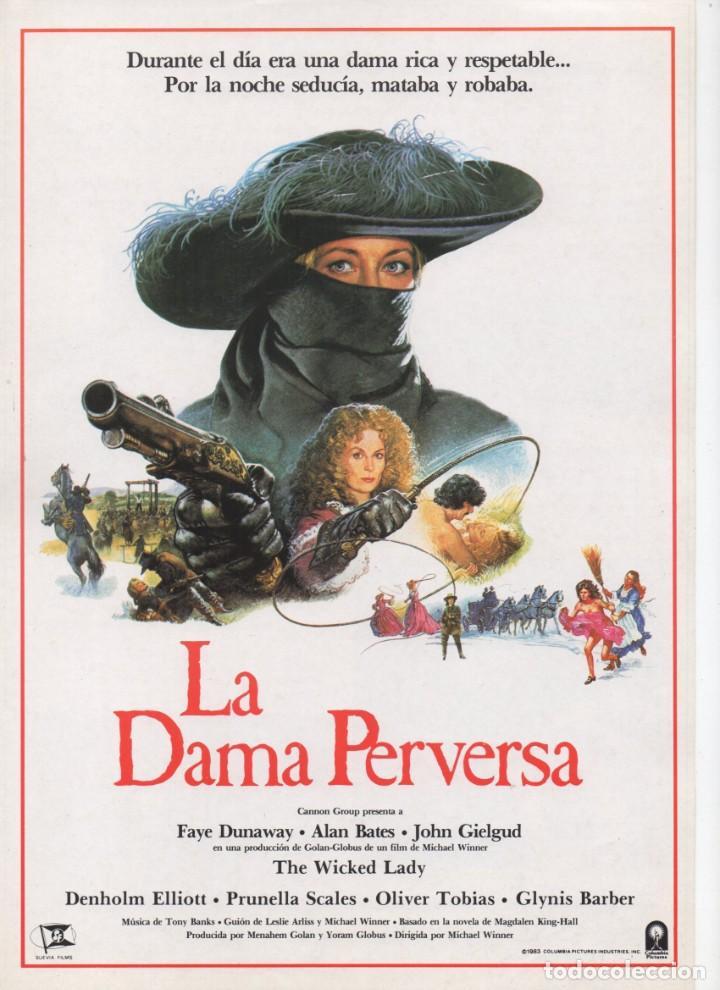 LA DAMA PERVERSA (Cine - Guías Publicitarias de Películas )