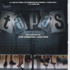 Cine: TAPAS. Lote 190425298
