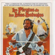 Cine: LOS PIRATAS DE LAS ISLAS SALVAJES. Lote 190510373