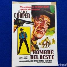 Cine: GUÍA PUBLICITARIA DE LA PELÍCULA: HOMBRE DEL OESTE. GARY COOPER. Lote 190527068