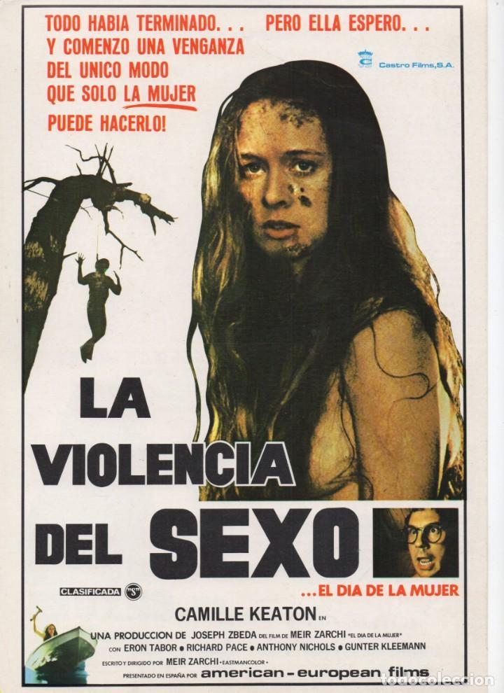 LA VIOLENCIA DEL SEXO (Cine - Guías Publicitarias de Películas )