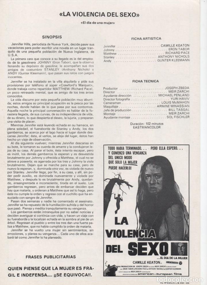 Cine: LA VIOLENCIA DEL SEXO - Foto 2 - 190700752