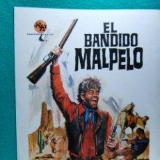 Cine: EL BANDIDO MALPELO-GIUSEPPE SCOTESE-GEORGE GARVELL-CHARO LOPEZ-ILUSTRADO POR JANO-1 HOJA-1972.. Lote 266556018