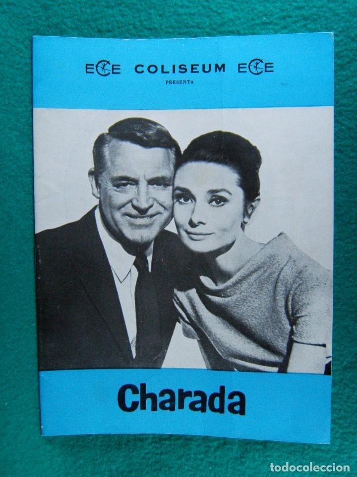 CHARADA-CHARADE-STANLEY DONEN-GARY CARY GRANT-AUDREY HEPBURN-WALTER MATTHAU-¡¡¡ 12 HOJAS !!!-1961. (Cine - Guías Publicitarias de Películas )