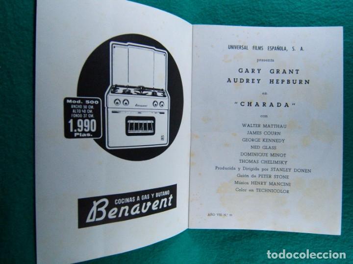 Cine: CHARADA-CHARADE-STANLEY DONEN-GARY CARY GRANT-AUDREY HEPBURN-WALTER MATTHAU-¡¡¡ 12 HOJAS !!!-1961. - Foto 2 - 190900915
