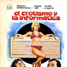 Cine: EL EROTISMO Y LA INFORMATICA (GUÍA ORIGINAL DOBLE CON FOTOS DE SU ESTRENO EN ESPAÑA) AGATA LYS. Lote 244780385
