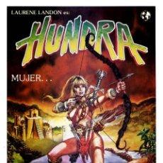 Cine: HUNDRA (GUÍA ORIGINAL SIMPLE CON FOTOS DE SU ESTRENO EN ESPAÑA) LAURENE LANDON. Lote 191079866