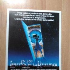 Cinéma: N--GUIA DE LA PELICULA -- EN LOS LIMITES DE LA REALIDAD. Lote 191270603