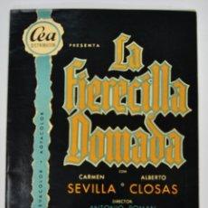 Cinéma: GUÍA PELÍCULA. LA FIERECILLA DOMADA. CARMEN SEVILLA Y ALBERTO CLOSAS. CINE PALAFOX. ZARAGOZA, 1956. Lote 191369803