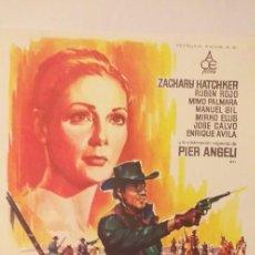 Cine: POR MIL DOLARES AL DIA,GUIA PUBLICITARIA DOBLE(ACE FILMS),ZACHARY HATCHKER. Lote 191677150
