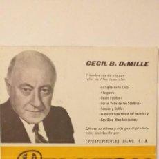 Cine: LOS BUCANEROS(GUIA PUBLICITARIA 4 HOJAS INTERPENINSULAR),YUL BRYNNER-CHARLTON HESTON. Lote 191682987