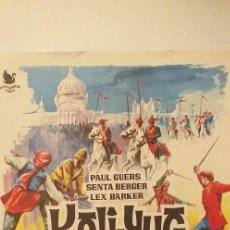 Cine: KALI-YUG,GUIA PUBLICITARIA(DOBLE INTERPENINSULAR),LEX BARKER-SENTA BERGER. Lote 191783081