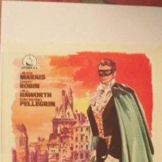 Cine: EL HAMPA DE PARIS,GUIA PUBLICITARIA(DOBLE DIPENFA),JEAN MARAIS. Lote 191784313