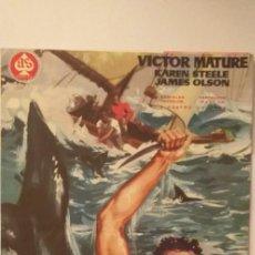 Cine: COSTA DE TIBURONES,GUIA PUBLICITARIA(DOBLE-AS FILMS),VICTOR MATURE. Lote 191814551
