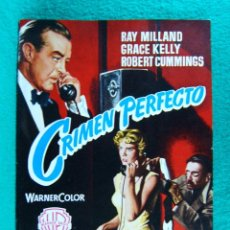 Cine: CRIMEN PERFECTO-DIAL M FOR MURDER-ALFRED HITCHCOCK-RAY MILLAND-GRACE KELLY-16 PAGINAS-1954. . Lote 192091660