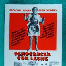 Cine: DEMOCRACIA CON LECHE-IL BELPAESE-LUCIANO SALCE-PAOLO VILLAGGIO-SILVIA DIONISIO-2 PAGINAS-1977-RARO.. Lote 295016053