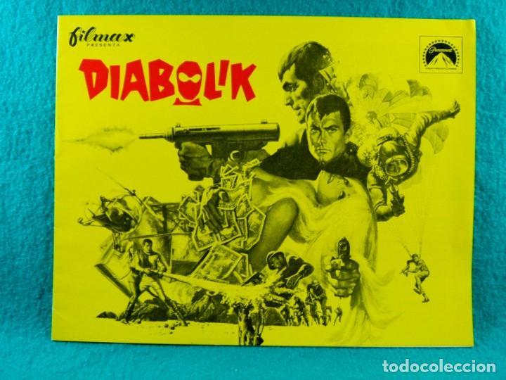 DIABOLIK-MARIO BAVA-JOHN PHILIP LAW-MARISA MELL-MICHEL PICCOLI-ADOLFO CELI-TERRY THOMAS-12 PAG-1968. (Cine - Guías Publicitarias de Películas )