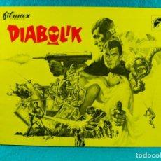 Cine: DIABOLIK-MARIO BAVA-JOHN PHILIP LAW-MARISA MELL-MICHEL PICCOLI-ADOLFO CELI-TERRY THOMAS-12 PAG-1968.. Lote 192377562