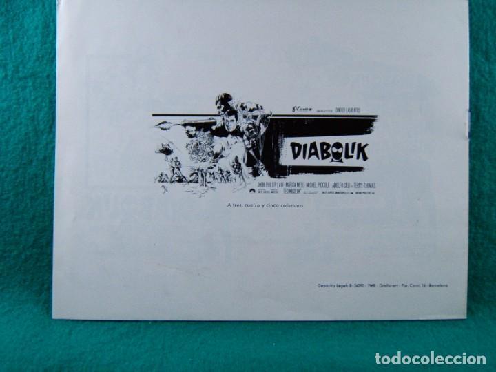Cine: DIABOLIK-MARIO BAVA-JOHN PHILIP LAW-MARISA MELL-MICHEL PICCOLI-ADOLFO CELI-TERRY THOMAS-12 PAG-1968. - Foto 3 - 192377562