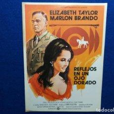 Cine: GUIA ORIGINAL DE LA PELICULA: REFLEJOS DE UN OJO DORADO. CON: ELIZABETH TAYLOR Y MARLON BRANDO. Lote 192466225