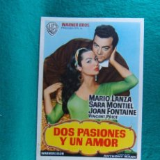 Cine: DOS PASIONES Y UN AMOR-SERENADE-ANTHONY MANN-MARIO LANZA-JOAN FONTAINE-SARA MONTIEL-2 PAGINAS-1959.. Lote 192519352