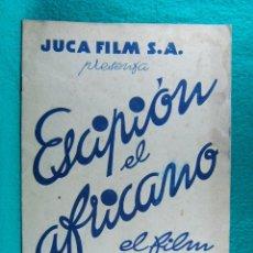 Cine: ESCIPION EL AFRICANO-CARMINE GALLONE-ANNIBALE NINCHI-ISA MIRANDA-CINE KURSAAL-16 PAGINAS-AÑOS 37/40?. Lote 192619982