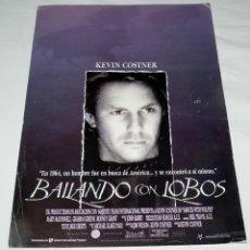 Cine: GUIA PUBLICITARIA PELICULA BAILANDO CON LOBOS - KEVIN KOSTNER. Lote 192633698