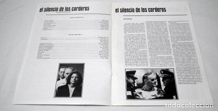 Cine: GUIA PUBLICITARIA PELICULA EL SILENCIO DE LOS CORDEROS - Foto 2 - 193013092