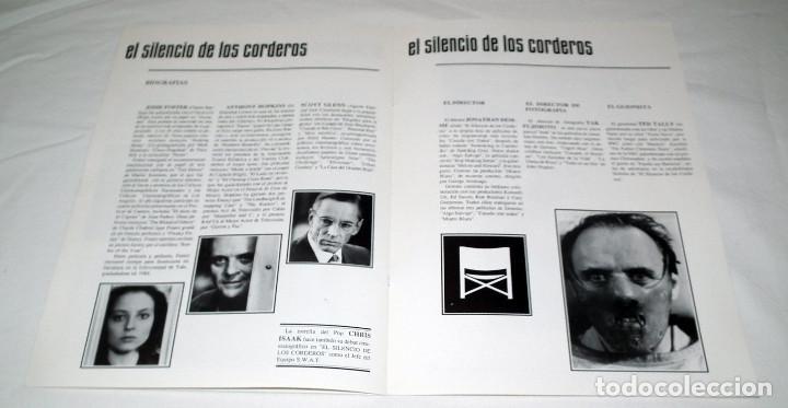 Cine: GUIA PUBLICITARIA PELICULA EL SILENCIO DE LOS CORDEROS - Foto 3 - 193013092