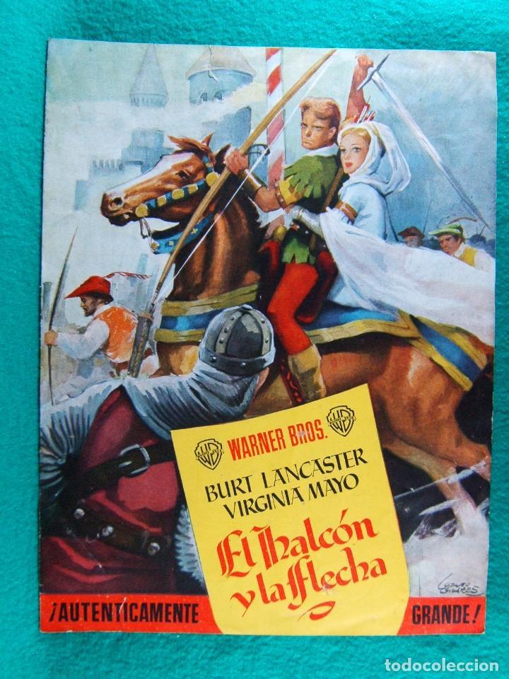 EL HALCON Y LA FLECHA-THE FLAME AND THE ARROW-JACQUES TOURNEUR-BURT LANCASTER-VIRGINIA MAYO-4 P-1950 (Cine - Guías Publicitarias de Películas )