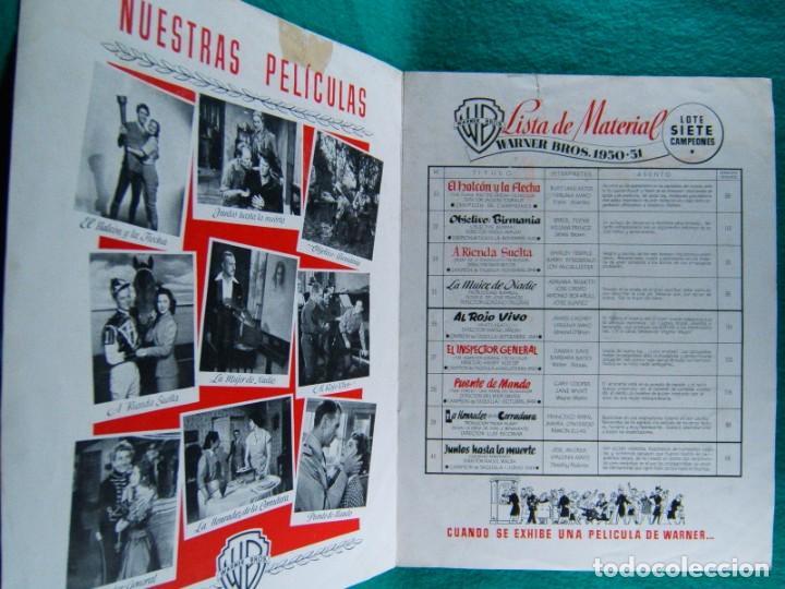 Cine: EL HALCON Y LA FLECHA-THE FLAME AND THE ARROW-JACQUES TOURNEUR-BURT LANCASTER-VIRGINIA MAYO-4 P-1950 - Foto 2 - 193053690