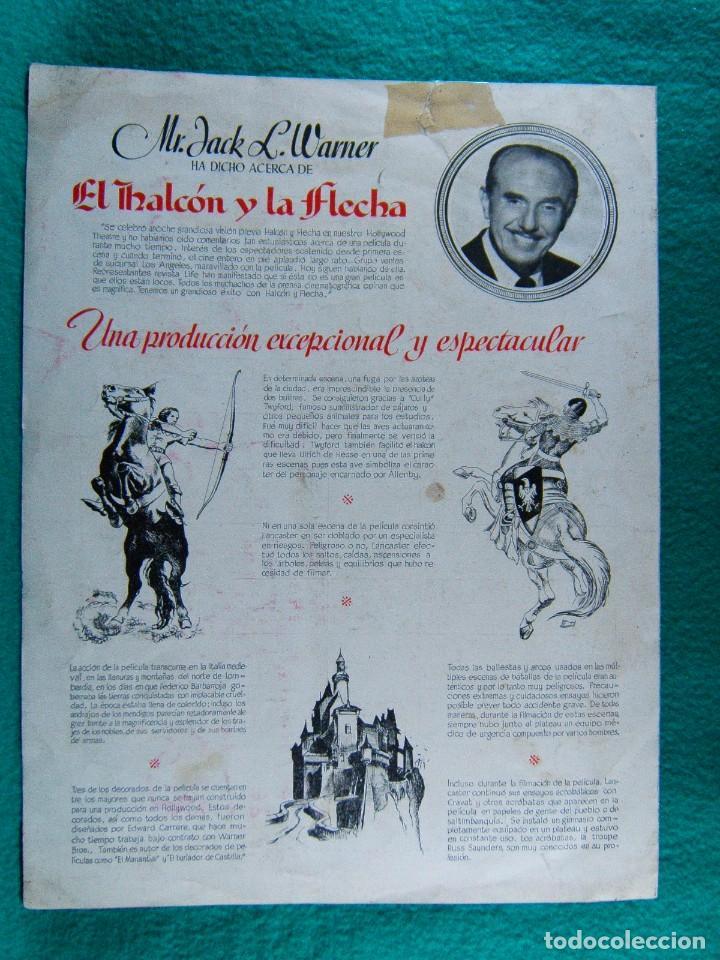 Cine: EL HALCON Y LA FLECHA-THE FLAME AND THE ARROW-JACQUES TOURNEUR-BURT LANCASTER-VIRGINIA MAYO-4 P-1950 - Foto 3 - 193053690