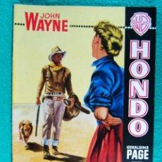Cine: HONDO-JOHN FARROW-GERALDINE PAGE-JOHN WAYNE-WARD BOND-MICHAEL PATE-3 DIMENSIONES 3-D-16 PAGINAS-1954. Lote 193211451
